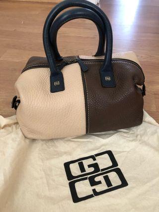 Bolso piel Gloria Ortiz nuevo /beig-marron-azul