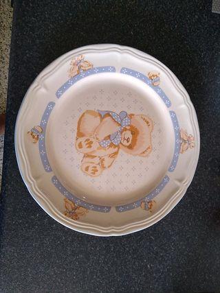 plato infantil Osito grande 27 cm