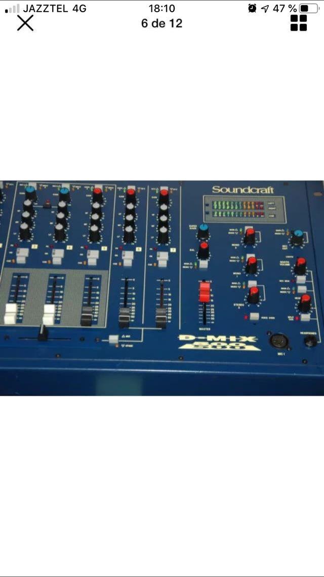 Mesa de mezclas dj soundcraft d-mix500