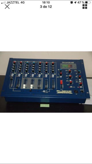 Mesa de mezclas dj soundcraft d-mix500
