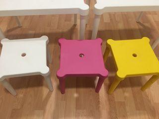 Mesas y taburetes para niñ@s