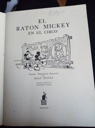 El ratón mickey 1934 coleccion
