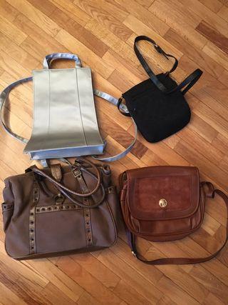 4 bolsos piel y otros