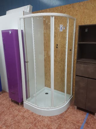 Mampara de ducha 90x90 con plato Z089