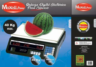 Báscula peso comercio fruta verdura