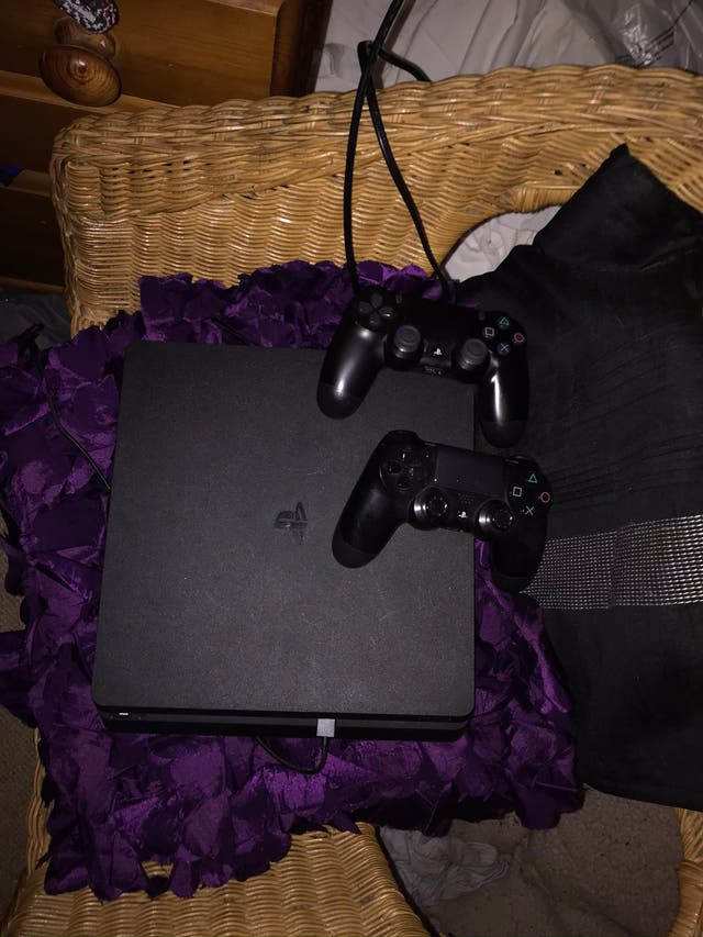 PS4 with two controllers