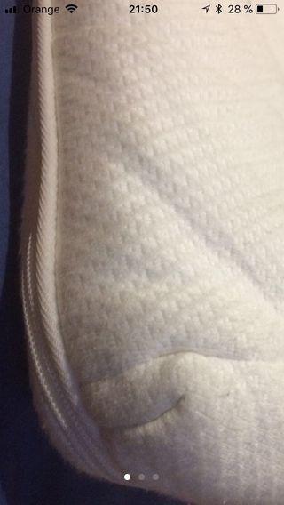 Sobre colchón de Latex con cremallera