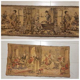 2 tapices antiguos S XIX-XX