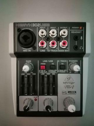 Mesa mezcla behringer XENYX 302 USB