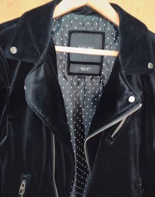 Cazadora de terciopelo doble faz Zara (HOMBRE)