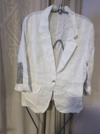 Blazer Blanco lino