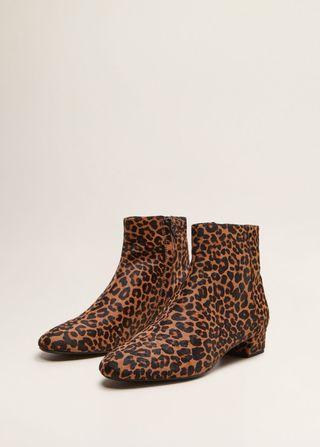 Botin piel leopardo MANGO