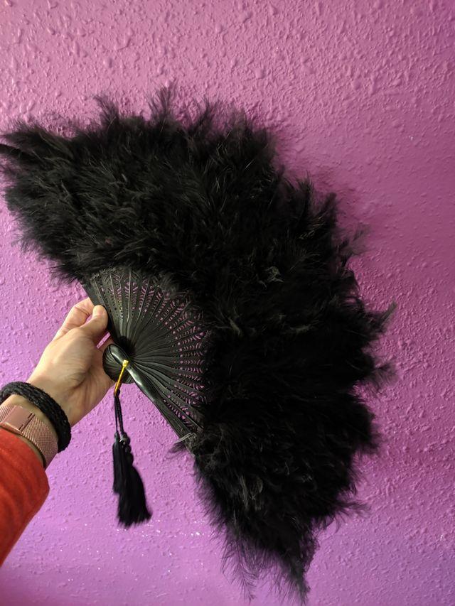 abanico plumas