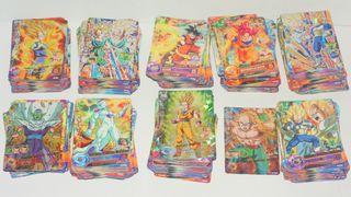 Gran lote Dragon Ball Heroes 460 cartas + 3 figura