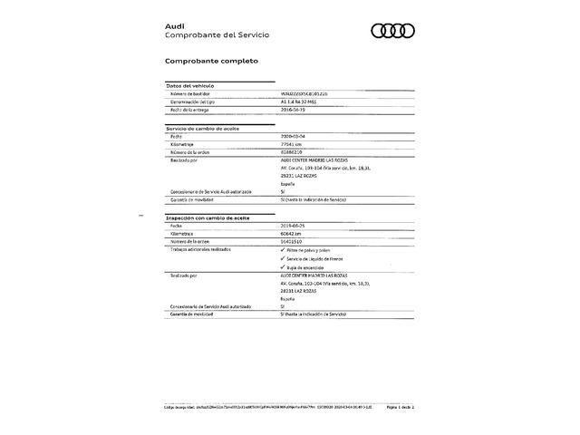Audi A1 1.4 TFSI Adrenalin2 92 kW (125 CV)