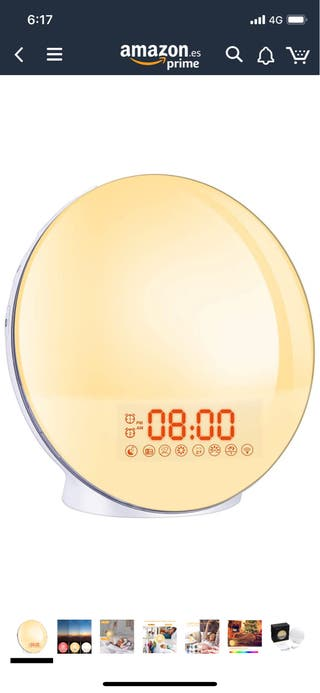 Wake up light. Reloj despertador de luz