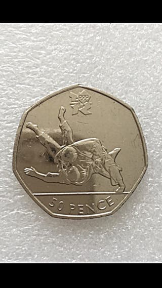 50p coin 2012 Olympic-judo .