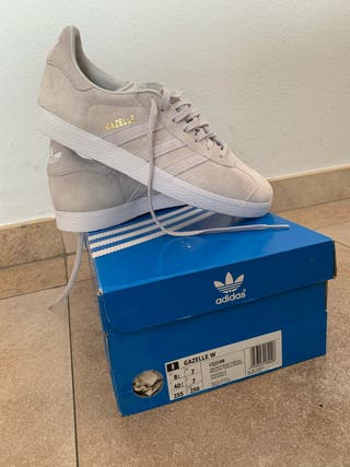 Adidas gazelle mujer gris talla 40 2/3 NUEVAS
