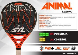 Pala Padel Steel Custom Animal Carbono