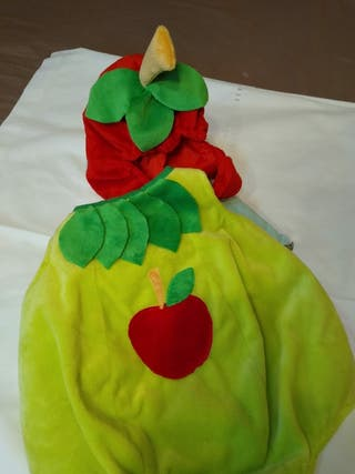 disfraz bebé manzana