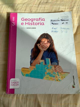 Libro geografía y historia Ed. SANTILLANA