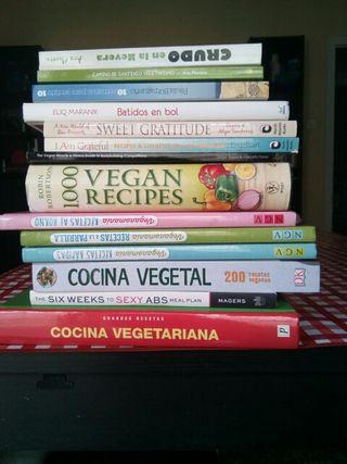 lote de libros de cocina vegana