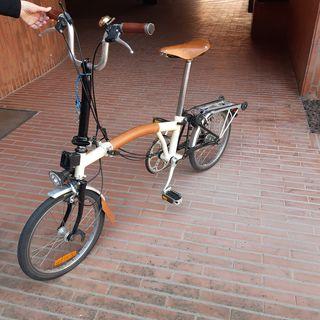 Bicicleta Brompton plegable