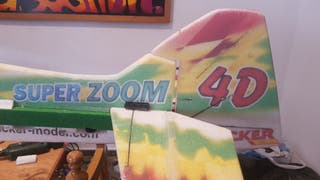 avion rc super zoom XXL motor rcgf 15ccP gasolina