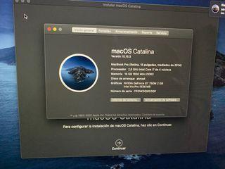 MacBook pro 2014 i7 2.8 16GB RAM 512 SSD