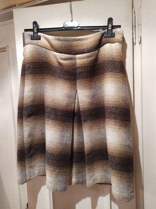 falda escocesa lana encima rodilla y 38