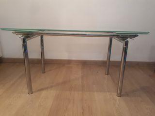 Mesa comedor de cristal
