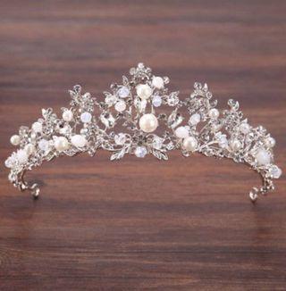 Corona tiara perlas novia boda princesa quince
