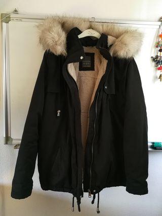 Abrigo negro S mujer / Parka / Anorak Plumas
