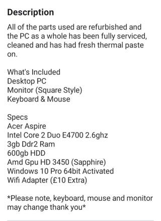 Full pc computer bundle
