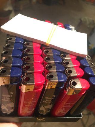 Paquete 50 mecheros electronicos recargables