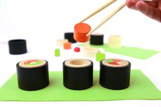 Makemaki. Rollitos de sushi de madera