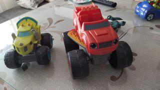 coche de juguetes Blaze y zet con sonido
