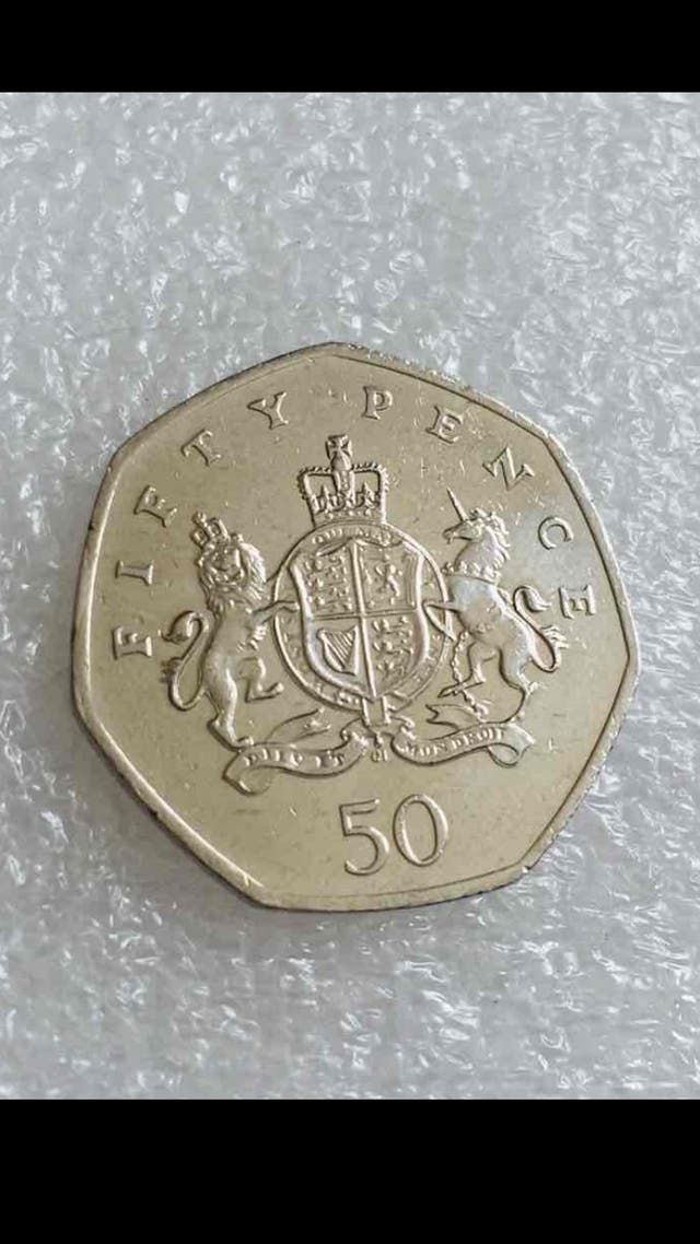 50p coin Ironsides 2013.