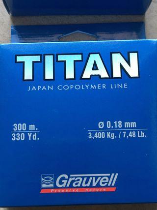 Nylon línea de pesca 0.18mm