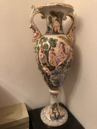 Jarrón porcelana Capodimonte