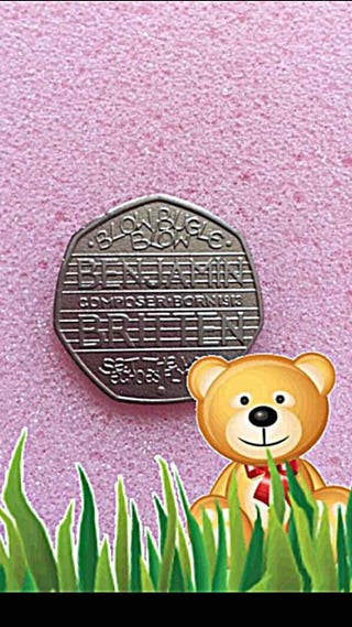 50p coin Benjamin Britten 2013.