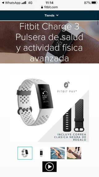 Fitbit charge 3 con dos correas