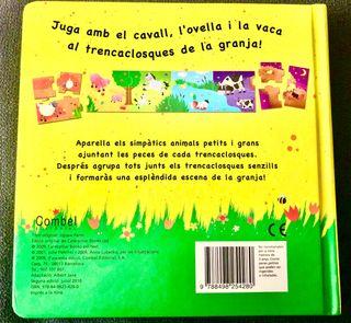 Libro con cuentos y puzzles de LA GRANJA