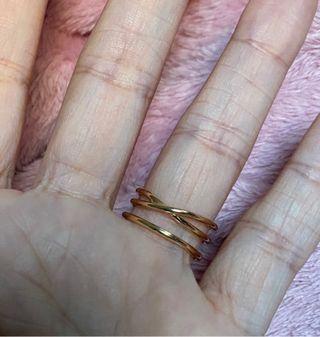 Anillo Muak Tous original oro y diamantes talla 14