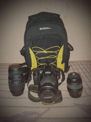 vendo camara de fotos y objetivos