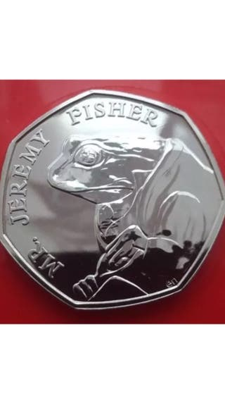50p coin Jeremy fisher 2017.