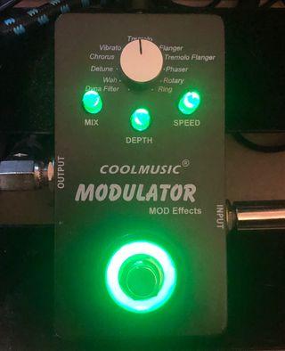Pedal guitarra efectos modulador