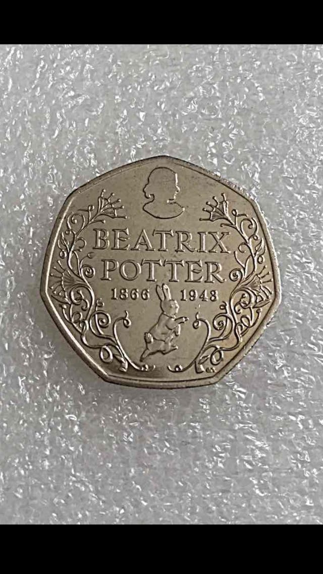 50p coin Beatrix potter 2016.