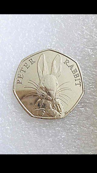 50p coin Peter rabbit 2016.