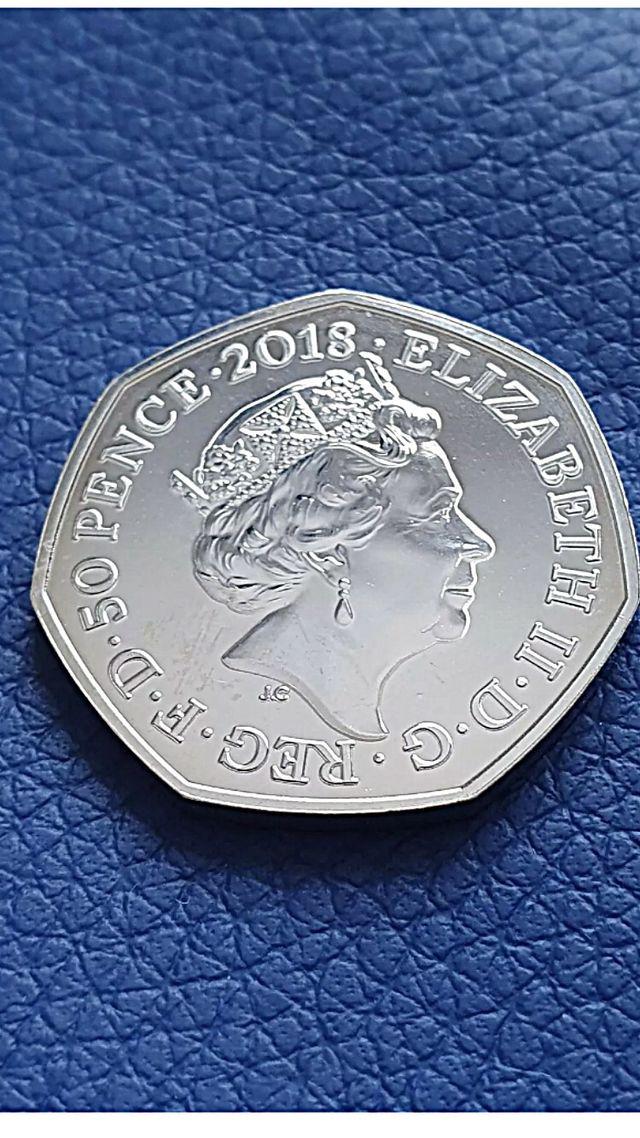 50p coin Peter rabbit 2018.